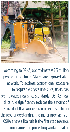 OSHAS RULE FOR RESPIRABLE CRYSTALLINE SILICA